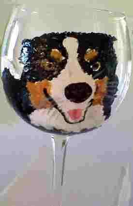 Border Collie Dog Wine Glasses - Clearly Susan