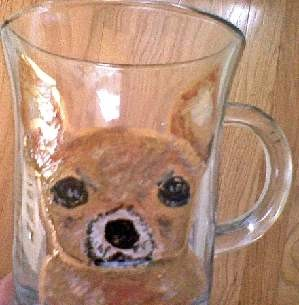 Hand Painted Chihuahua Dog Coffee Mugs