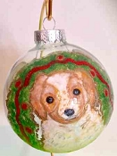 Hand painted Dog Ornaments Personalized by Clearly Susan