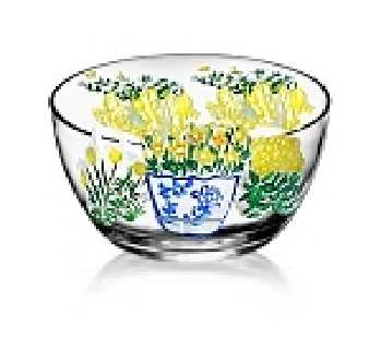 Hand painted Yellow Wildflower Bowls