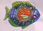 Fish Plates With Sauce Bowls Hand painted
