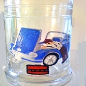 Hand painted  Corvette Beer Glass or Coffee Mug | Clearly Susan