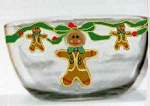 Hand painted Christmas Gingerbread Bowl