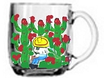 Clearly Susan's Hand painted Coffee Mugs In Mexican Designs