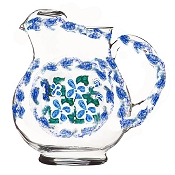 Hand painted Pitcher In Blue and White Design