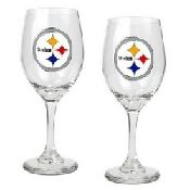 Hand painted Football Glasses Of Pittsburg Steelers, Sports Glasses