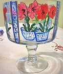 Hand painted Trifle Bowl In Amaryllis Design