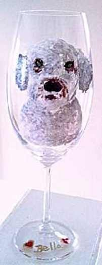 Portuguese Water Dog Wine Glasses