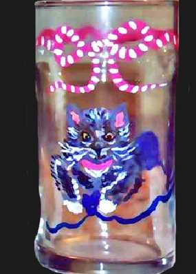 Russian Blue Cat Drinking Wine