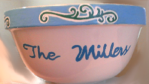 Hand painted Serving Bowls With Names