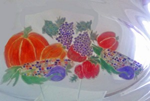 Thanksgiving Platter Hand painted In Fall Colors