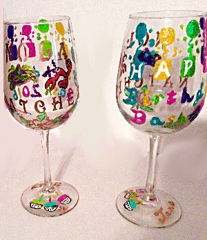 Personalized Birthday Wine Glasses | Clearly Susan