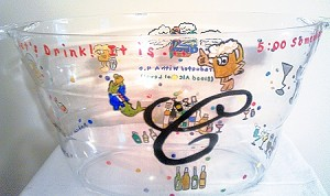 Acrylic Beer and Wine Ice Buckets Hand painted |Clearly Susan
