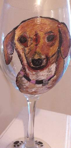 Dachshund  Dog Wine Glasses