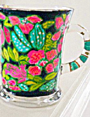 Mugs Painted In Lilly Pulitzer Design