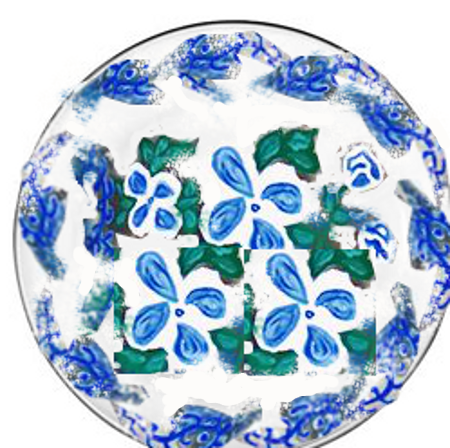 Dinner Plates Blue and White Savoy