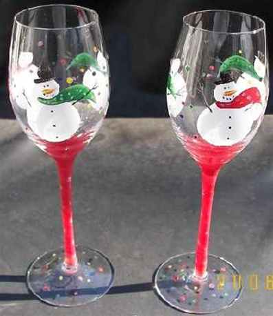 Snowman Wine Glasses Love The Snow