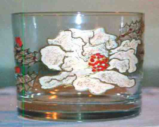Christmas Glasses, Mugs White Poinsettias