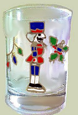 Christmas Nutcracker Glass