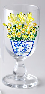 Ice Water Tea Glasses in Yellow Wildflower
