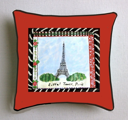 Hand made Pillows Of The Eiffel Tower