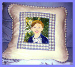 Hand painted Portrait Pillows
