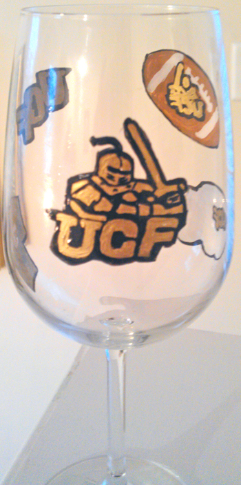 Sports Glasses University Central Florida Football Glasses