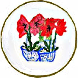 Dinner Plates Amaryllis Design