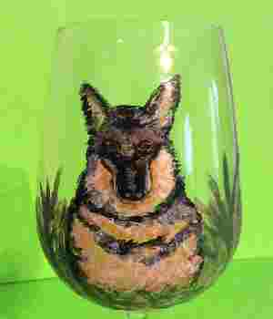 German Shepherd Dog Wine Glasses