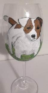 Jack Russell Dog Wine Glasses