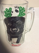 Hand Painted Dog Beer Mugs