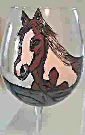Horse Wine Glasses For Equestrian Lover