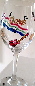 Wine And Music Glasses Harmonize Well Together