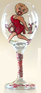 Clearly Susan's Diva Wine Glass Hand painted For The Diva In You