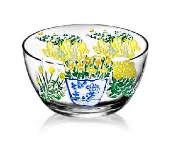 Yellow Wildflower Bowls Hand painted