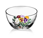 Handful of Pansies on Hand painted Salad Bowls