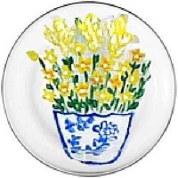 Yellow Wildflower Salad Plates