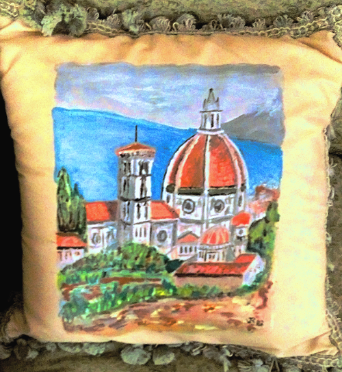 Decorative pillows of Duomo Florence, Italy