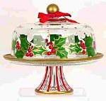 Christmas Plates - Cake Stand With Dome