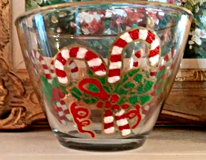 Candy Cane Christmas Bowls