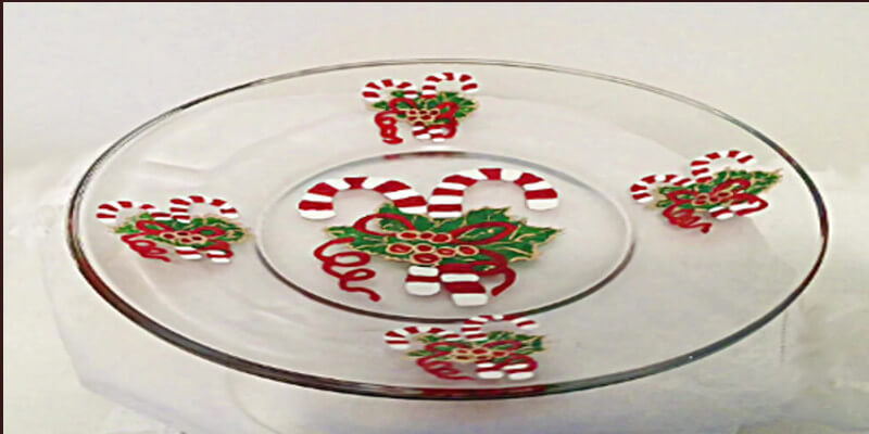 Christmas Candy Cane Platter For Christmas Dinner