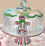 Cake Plates With Gingerbread Men
