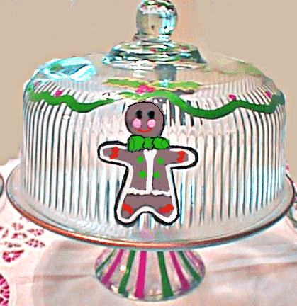 Cake Plate With Gingerbread Men