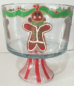 Christmas Gingerbread Trifle Bowl