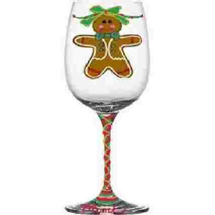 Gingerbread Christmas Wine Glasses