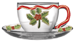 Christmas  Holly Berries Coffee Cup