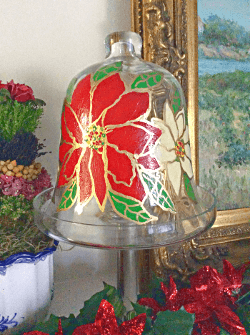 Christmas Poinsettia Cheese Dome