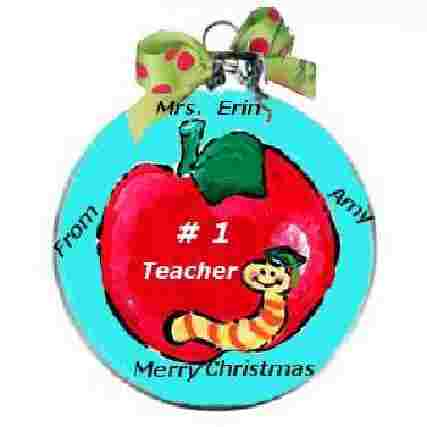 Teacher Ornaments, Custom Ornaments