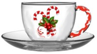 Christmas Candy Cane Cups and Saucers
