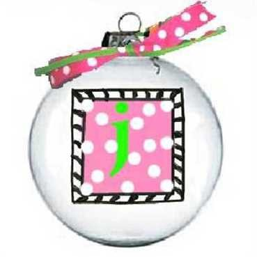 Christmas Tree Custom Letter Ornament